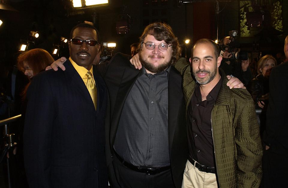 Wesley Snipes, director Guillermo del Toro, & David S. Goyer (Photo by M. Caulfield/WireImage)