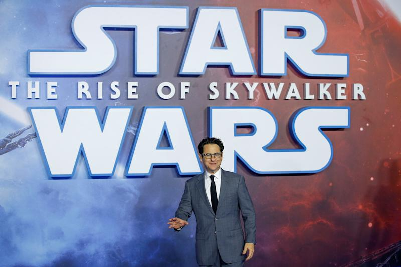 "Director J.J. Abrams poses as he attends the premiere of ""Star Wars: The Rise of Skywalker"" in London, Britain, December 18, 2019. REUTERS/Henry Nicholls"