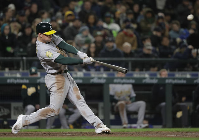 Matt Chapman focused on re-tooling his swing in the offseason. (AP Photo)