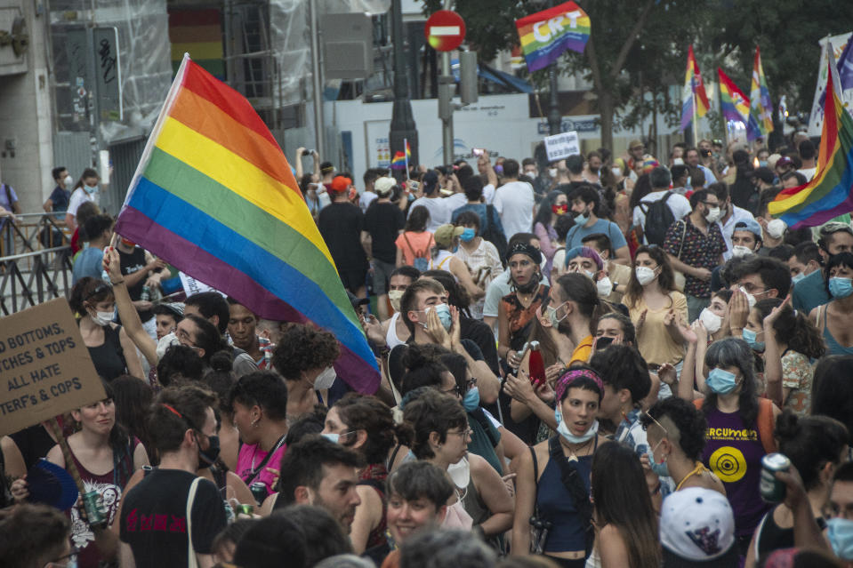 Manifestaciones del Orgullo en España. (Photo by Alberto Sibaja/Pacific Press/LightRocket via Getty Images)