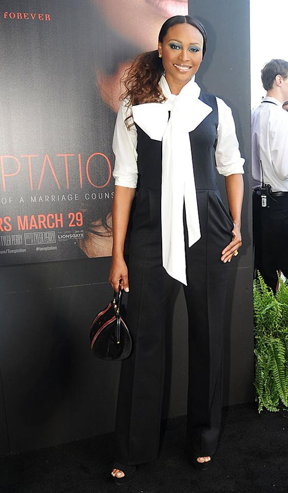 "Cynthia Bailey attends the ""Tyler Perry's Temptation: Confessions Of A Marriage Counselor"" Atlanta Screening at AMC Parkway Pointe on March 16, 2013 in Atlanta, Georgia."