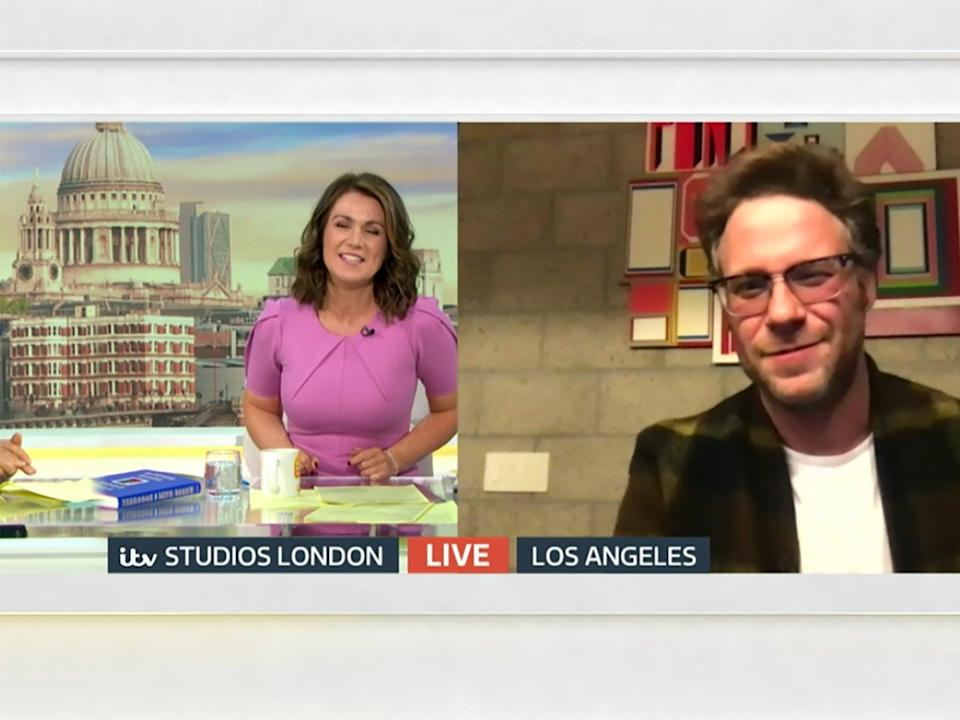 Seth Rogen appeared on 'Good Morning Britain' to discuss his new bookITV