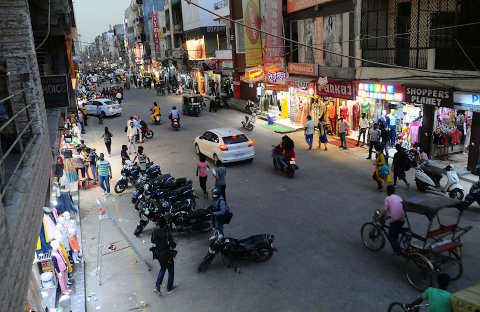 Laxmi Nagar market reopens, two days after being ordered to be closed till July 5 for violating Covid protocol in New Delhi, India.