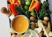 """<h2>17. Dairy-Free Butternut Squash 'Fondue'</h2> <p>Who said cheese eaters get to have all the fun? This squash fondue is just as dippable as the real thing.</p> <p><a class=""""link rapid-noclick-resp"""" href=""""https://www.purewow.com/recipes/dairy-free-butternut-squash-fondue"""" rel=""""nofollow noopener"""" target=""""_blank"""" data-ylk=""""slk:Get the recipe"""">Get the recipe</a></p>"""