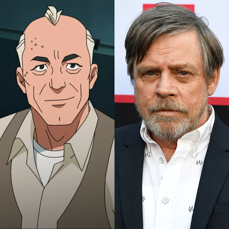 "<p>Ever heard of him? Luke Skywalker himself plays Art Rosenbaum, the tailor to the heroes and a friend of the Grayson family in <em>Invincible</em>. In case you didn't realize, Hamill is probably just as well known for his voiceover work as <em>Star Wars</em> these days, having most famously voiced The <a href=""https://www.menshealth.com/entertainment/g29365030/joker-actors-list/"" rel=""nofollow noopener"" target=""_blank"" data-ylk=""slk:Joker"" class=""link rapid-noclick-resp"">Joker</a> in <em>Batman: The Animated Series</em> and several other related projects.</p>"