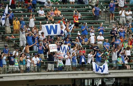 Chicago Cubs takeover Milwaukee's Miller Park during a game in 2017. (AP)
