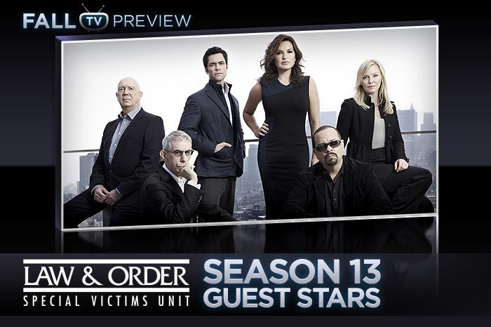 "As NBC's ""<a href=""/law-order-special-victims-unit/show/131"">Law & Order: Special Victims Unit</a>"" embarks on its 13th season, Christopher Meloni is out, Mariska Hargitay is still in, and <a href=""http://tv.yahoo.com/slideshow/764/photos/9#goto_9"" rel=""nofollow"">two new actors</a> -- Kelli Giddish and Danny Pino -- have joined the cast. Like its previous seasons, ""SVU"" will be welcoming a number of guest stars to portray lawyers, cops, perps, and victims. Click through this slideshow to see which actors will be stopping by this season. Make sure to check back often as more guest stars are announced."