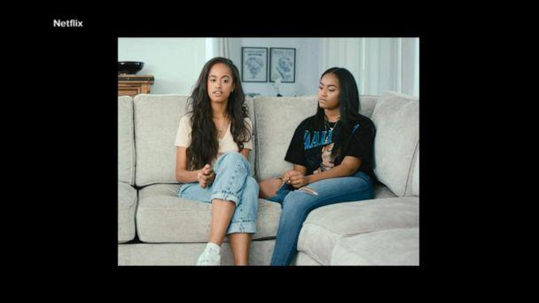 Malia, Sasha Obama make rare appearance in mom's new documentary