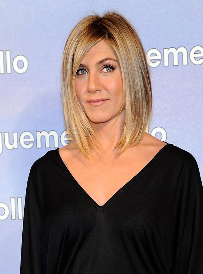 MADRID, SPAIN - FEBRUARY 22:  Jennifer Aniston attends the premiere party of 'Sigueme el Rollo' (Just Go With It) at the Room Mate Oscar Hotel on February 22, 2011 in Madrid, Spain.  (Photo by Fotonoticias/Getty Images) *** Local Caption *** Jennifer Aniston