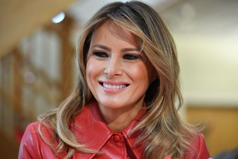 First Lady Melania Trump at the Children's Inn at the National Institutes of Health in Bethesda, Maryland, on Feb. 14. | MANDEL NGAN/AFP via Getty