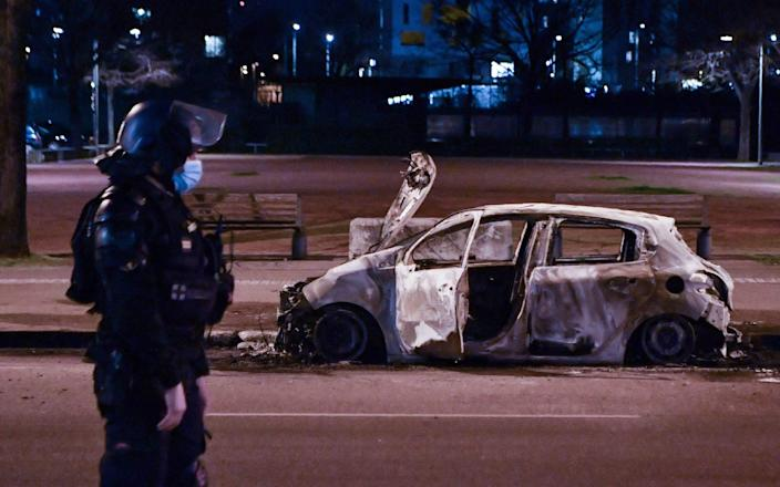 Police clashed with young people in Lyon last month after claims of brutality by officers - GETTY IMAGES