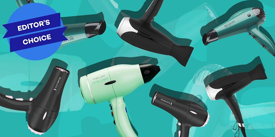 """<p>Fact: Behind every great head of hair is a great hair dryer. Sure, <em>some</em> of us may be born with tresses that dry perfectly without any heated styling tools, but that's not most of us. With that being said, the latest blow-dryer options have come a long way since our subpar options of yesteryear, with some leaving your strands so smooth and defined that you won't need to pick up another heated styling tool.</p><p>But, there's hundreds of options to choose from, which is why it can feel like a continuous game of trial and error before you find a blow-dryer that actually cooperates with your delicate head of hair. That's where we come in. We rounded up our editors favorites, plus a tip from Tonya Fairley, <a href=""""https://strandzunlimited.com/pages/about-strandz-unlimited"""" rel=""""nofollow noopener"""" target=""""_blank"""" data-ylk=""""slk:Strandz Unlimited"""" class=""""link rapid-noclick-resp"""">Strandz Unlimited</a> founder and professional hairstylist, to spill the tea on some of the best hair dryers on the market. </p><h3 class=""""body-h3"""">Best Hair Dryers of 2021</h3><ul><li><strong>Best Overall:</strong> <a href=""""https://www.amazon.com/dp/B003V264WW?tag=syn-yahoo-20&ascsubtag=%5Bartid%7C2089.g.581%5Bsrc%7Cyahoo-us"""" rel=""""nofollow noopener"""" target=""""_blank"""" data-ylk=""""slk:Remington Pro Hair Dryer With Pearl Ceramic Technology"""" class=""""link rapid-noclick-resp"""">Remington Pro Hair Dryer With Pearl Ceramic Technology</a></li><li><strong>Best Budget Option:</strong> <a href=""""http://www.amazon.com/dp/B008QMQXQY/?tag=syn-yahoo-20&ascsubtag=%5Bartid%7C2089.g.581%5Bsrc%7Cyahoo-us"""" rel=""""nofollow noopener"""" target=""""_blank"""" data-ylk=""""slk:Revlon 1875W Volume Booster Hair Dryer"""" class=""""link rapid-noclick-resp"""">Revlon 1875W Volume Booster Hair Dryer</a></li><li><strong>For Smooth and Shiny Hair:</strong> <a href=""""https://go.redirectingat.com?id=74968X1596630&url=https%3A%2F%2Fshop.nordstrom.com%2Fs%2Fdrybar-buttercup-blow-dryer%2F4139732&sref=https%3A%2F%2Fwww.bestproducts.com%2Fbeauty%2Fg581%2F"""