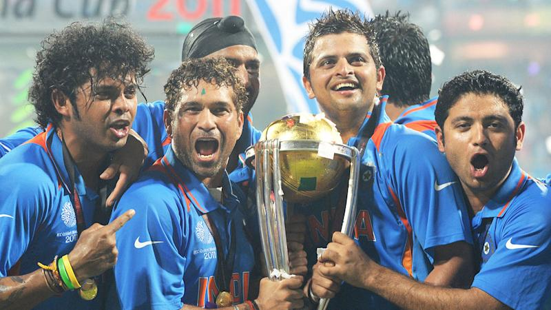 India won the 2011 Cricket World Cup after beating Sri Lanka in the final. Pic GettyMore