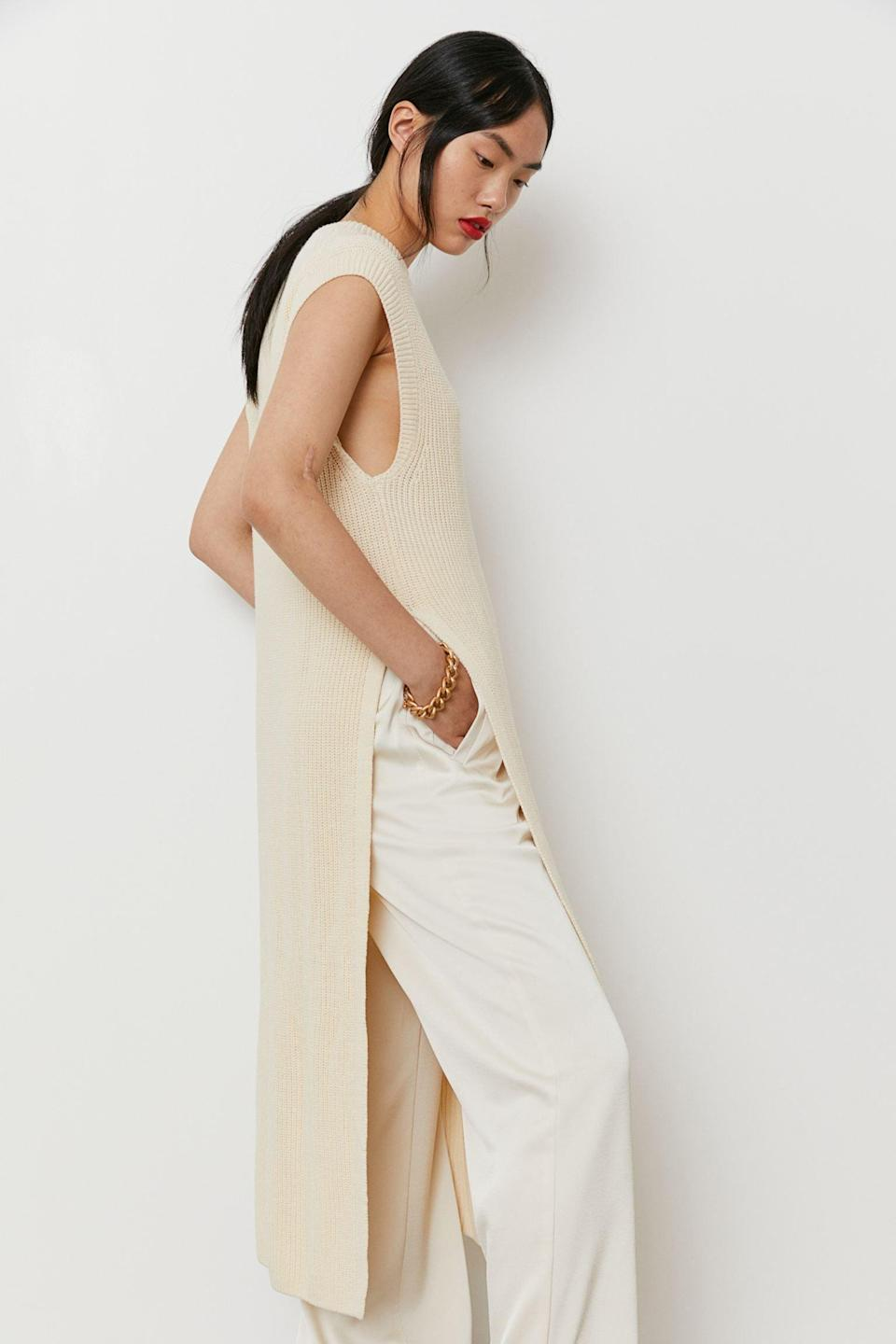 <p>We love that this <span>Rib-Knit Dress</span> ($16, originally $20) can double as a shirt and be paired with pants. It looks luxurious and elegant.</p>