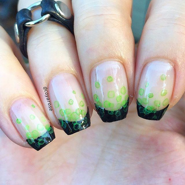 "<p>Your nails will look just like a witch's cauldron with this bubbly green nail art with black tips. Plus, the design is so easy you could even do it at home. </p><p><a href=""https://www.instagram.com/p/B4A62l_FuxG/?utm_source=ig_embed&utm_campaign=loading"" rel=""nofollow noopener"" target=""_blank"" data-ylk=""slk:See the original post on Instagram"" class=""link rapid-noclick-resp"">See the original post on Instagram</a></p>"
