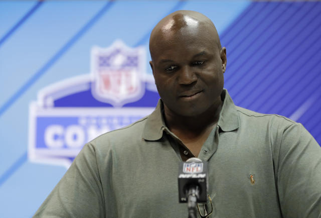 New York Jets head coach Todd Bowles speaks during a press conference at the NFL football scouting combine, Wednesday, Feb. 28, 2018, in Indianapolis. (AP Photo/Darron Cummings)