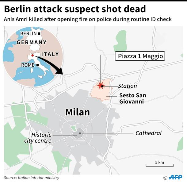 Berlin attack suspect killed (AFP Photo/Jean Michel CORNU, Simon MALFATTO)