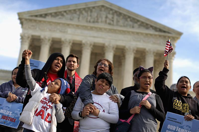Fair Immigration Reform Movement Holds Vigil At Supreme Court