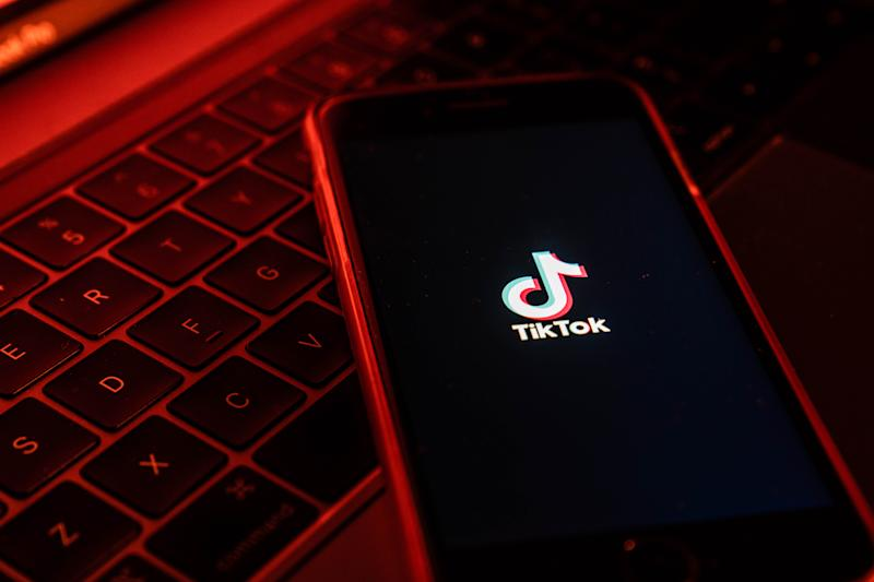 The Chinese-owned TikTok app is under scrutiny from the United States government. (Lam Yik/Bloomberg via Getty Images)