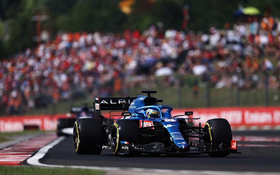 Fernando Alonso racing at the Hungarian Grand Prix - GETTY IMAGES EUROPE