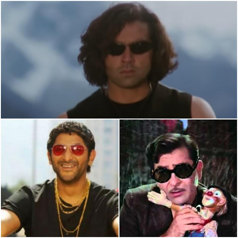 Bobby Deol's black wrap around frames in Soldier (1998), Arshad Warsi's rose coloured aviators in Lage Raho Munnabhai (2006), and Raj Kapoor's dark retro glasses with patterned rims in Mera Naam Joker (1970) have become the most recognised part of their respective characters' look.