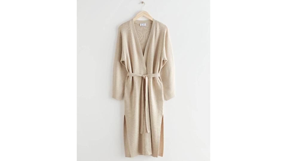 & Other Stories Long Belted Knit Cardigan