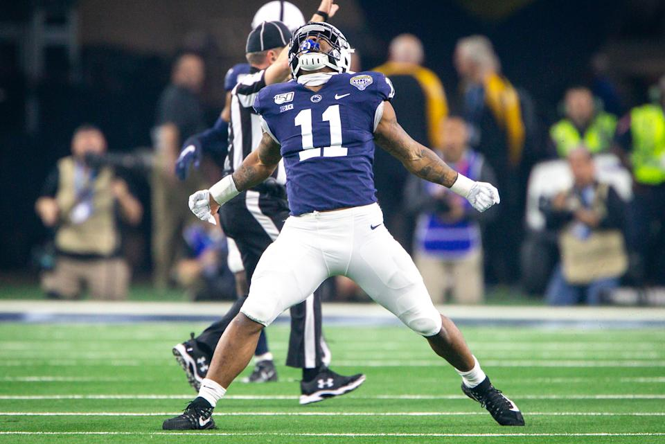 Penn State LB Micah Parsons has the chance to be a rare top-10 pick at linebacker. (Photo by William Purnell/Icon Sportswire via Getty Images)