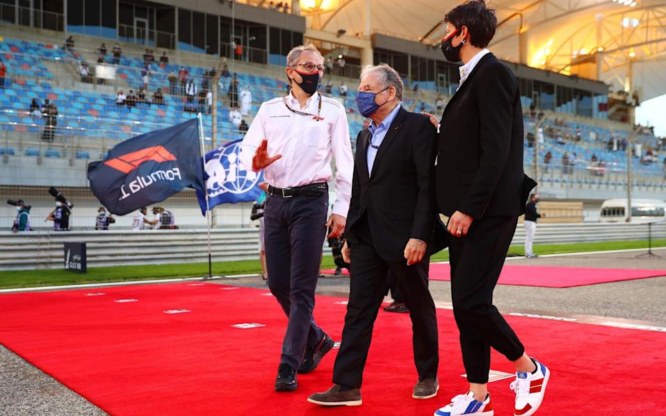 Former Lamborghini chairman Stefano Domenicali (left) must drive his beloved sport to safer ground after pandemic disruption - Dan Istitene - Formula 1