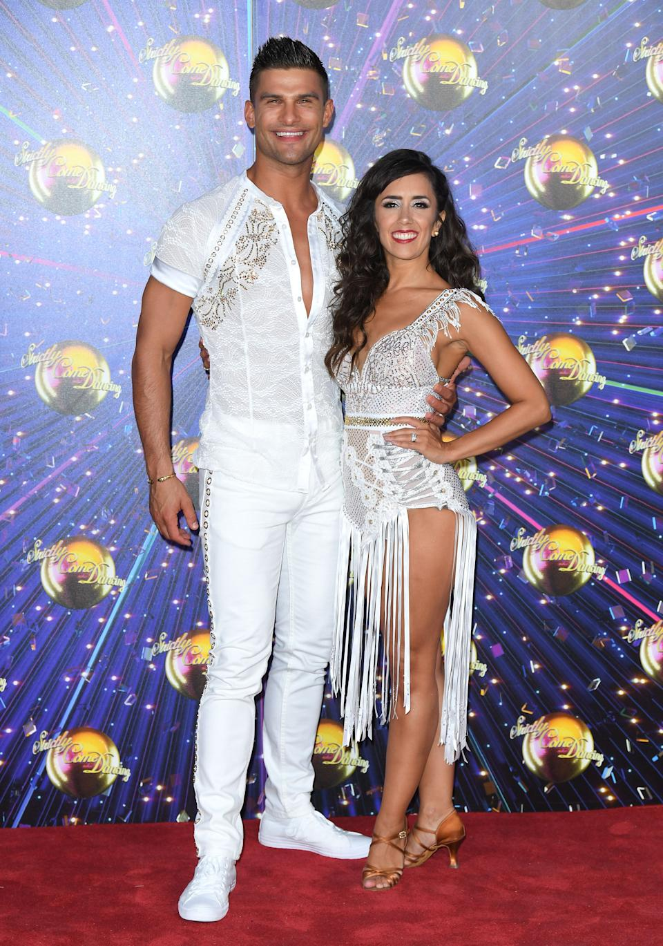 Husband and wife Aljaz Skorjanec and Janette Manrara are being forced to live apart  (Photo: Karwai Tang via Getty Images)