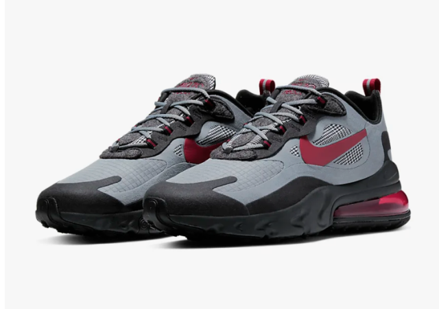 Nike Air Max 270 React (Cool Grey/Noble Red)