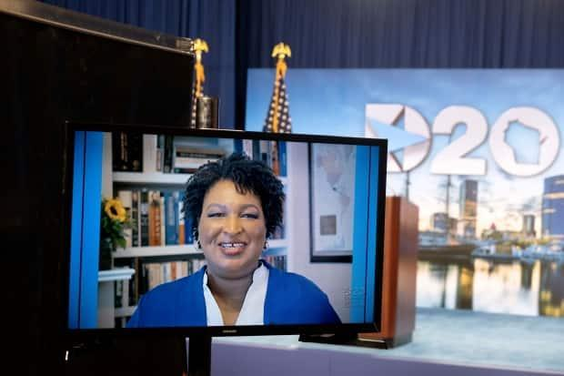 Georgia has some big races next year for the U.S. Senate and for state governor. Stacey Abrams, seen speaking at last year's Democratic convention, is expected to run for governor after nearly winning in 2018. She is a leading critic of the new law.