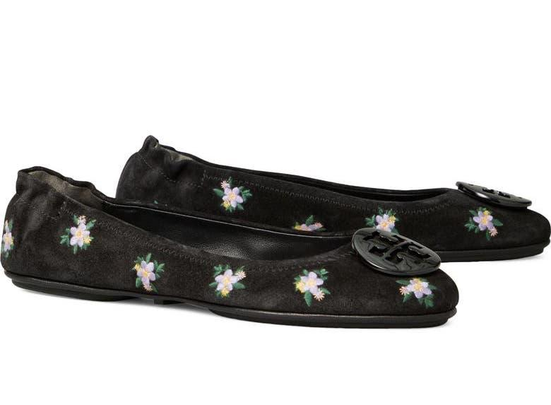 Tory Burch Minnie Travel Ballet Flat. Image via Nordstrom.