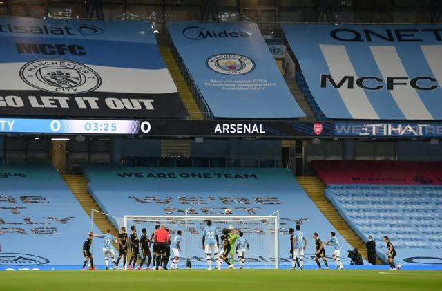 The match will be played behind closed doors (Peter Powell/NMC Pool/PA)