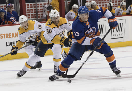 The young star for the Isles is an enticing buy-low candidate after a week of action. (AP Photo/Mary Altaffer)