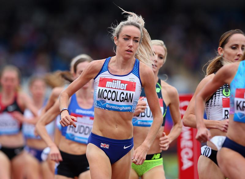 Mccolgan during the Muller Grand Prix Birmingham meeting. (Credit: Getty Images)