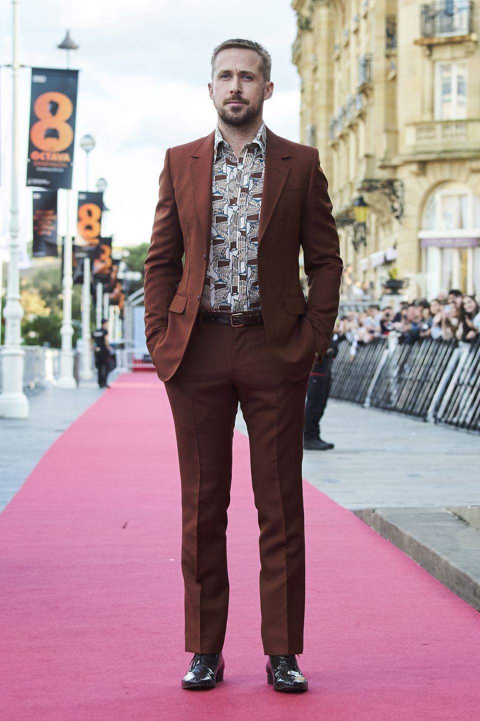 <p>Whether he's dancing in <em>La La Land </em>or confessing his love in <em>The Notebook</em>, Gosling's hair choices were never too out of reach in the world of fashion. </p>