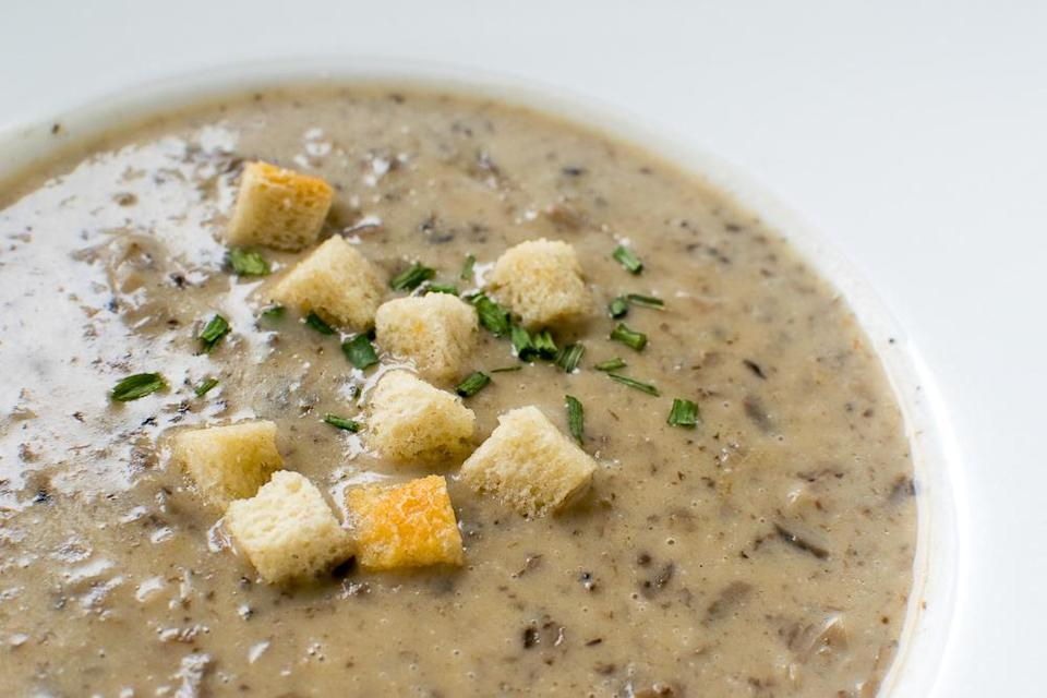 Close up of Forest Mushroom Soup