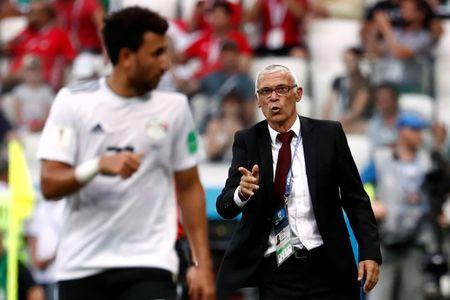 Soccer Football - World Cup - Group A - Saudi Arabia vs Egypt - Volgograd Arena, Volgograd, Russia - June 25, 2018 Egypt coach Hector Cuper during the match REUTERS/Damir Sagolj