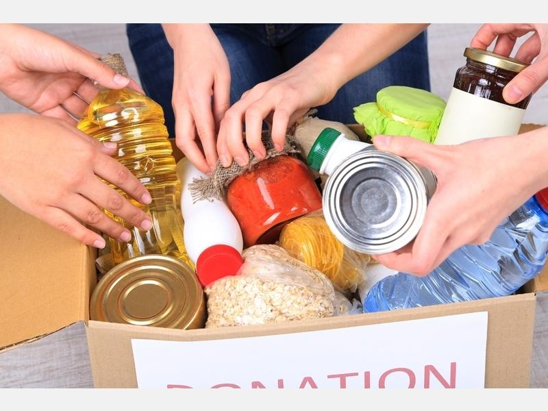 Community members can donate food items to the pantries.