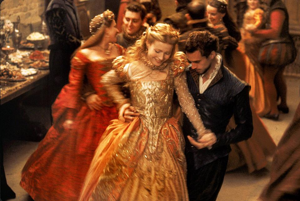"""""""Shakespeare in Love"""" imagines a romance between Shakespeare (Joseph Fiennes) and a woman (Gwyneth Paltrow) who auditions, disguised as a man, for one of his plays that helps the Bard write """"Romeo and Juliet."""""""