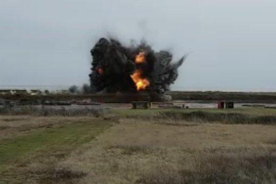 A controlled explosion was carried out on the device on Saturday (@DefenceHQ)
