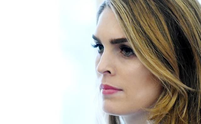 Hope Hicks is listed among the most powerful people in Washington, per a new ranking, due to her role as the president's gatekeeper. (Photo: Getty Images)