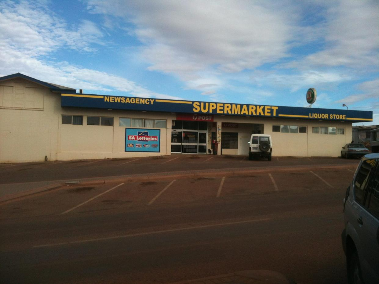 Supermarket in Coober Pedy.