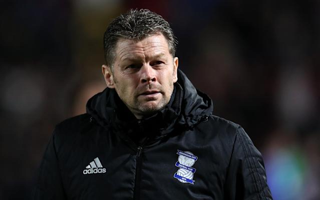 "Steve Cotterill has been sacked as manager of Birmingham City, with the club facing the prospect of dropping into League One. Cotterill was summoned for talks with Birmingham's owners following Saturday's 2-1 loss at Nottingham Forest and was dismissed after a run of five successive league defeats which has dragged the Championship club back into the relegation zone, two points adrift of safety. Garry Monk, the former Swansea and Middlesbrough manager, is widely expected to be confirmed as Cotterill's replacement within the next 48 hours. Cotterill's impending departure ends a frustrating period for the 53 year-old, who was unable to sign any players in the January transfer window. Telegraph Sport understands that he had deals lined up for Preston forward Jordan Hugill, who joined West Ham for £8 million, and Chelsea attacker Kasey Palmer, who snubbed Birmingham to join Derby on loan. But Birmingham's transfer activity was allegedly disrupted by an ongoing row between two key figures in the boardroom, leaving Cotterill unable to make any additions. Recent results have now forced Birmingham's owners, Trillion Trophy Asia, into making their third dugout change in under 12 months. As well as Cotterill, his backroom staff have also been shown the door. ""Steve's contract, and those of the backroom staff - first-team coach Paul Groves, first-team coach Paul Williams, goalkeeper coach Kevin Hitchcock, director of football Jeff Vetere, David Alvarez (head of sports science and medical) and Albert Altarriba-Bartes (first-team strength and conditioning coach) - have been terminated with immediate effect,"" said Birmingham in a statement. ""The board would like to place on record their sincere thanks to Steve, not only for his significant contribution at the conclusion of last season for which we will remain grateful, but also for his genuine efforts, contribution and hard work during his tenure in this 2017/18 campaign. ""Steve has conducted himself professionally on behalf of the club at all times, his work ethic and honesty are a credit to him and there is a genuine sadness at this decision. However, the board feel that a change in management at this stage is in the best interests of the football club."""