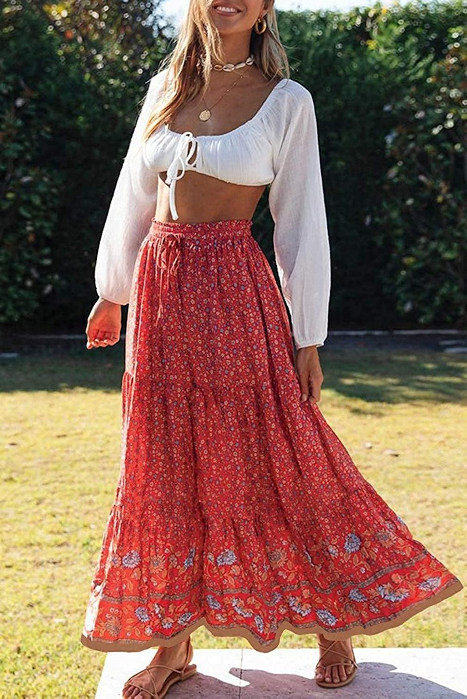 <p>Spend your summer in this flowy <span>Zesica Floral Printed Maxi Skirt</span> ($18-$29).</p>