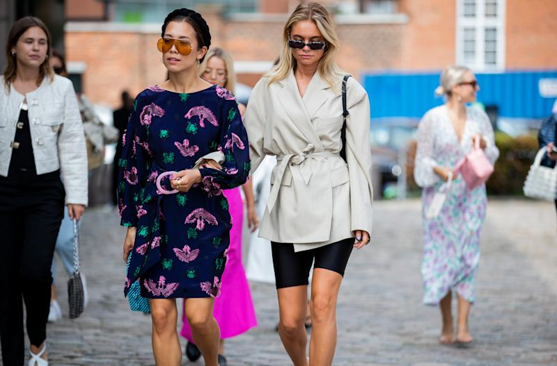 COPENHAGEN, DENMARK - AUGUST 07: Nicole Huisman and Claire Rose Cliteur seen outside Rodebjer during Copenhagen Fashion Week Spring/Summer 2020 on August 07, 2019 in Copenhagen, Denmark. (Photo by Christian Vierig/Getty Images)