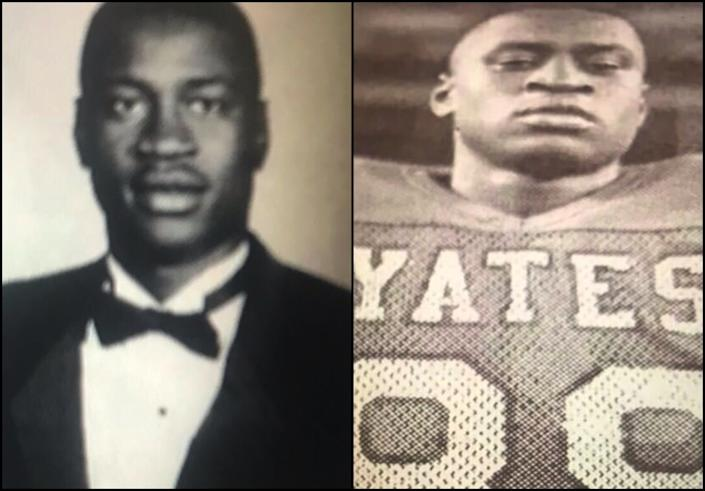 Yates High School photos of George Floyd.