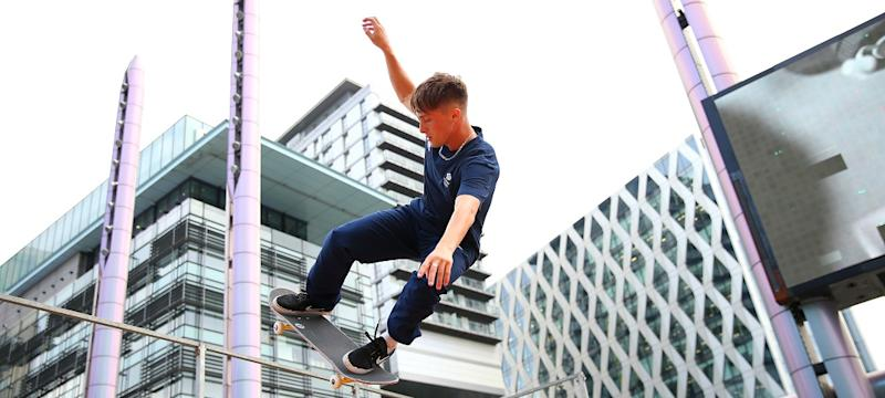 Alex Decunha is aiming to history as Team GB's first Olympic skateboarder at the 2020 Games in Tokyo, just under one year away.