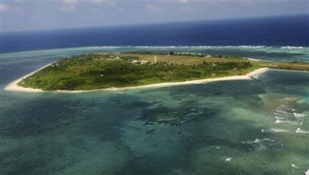 File photo shows the Pagasa (Hope) Island, part of the disputed Spratly group of islands, in the South China Sea located off the coast of western Philippines
