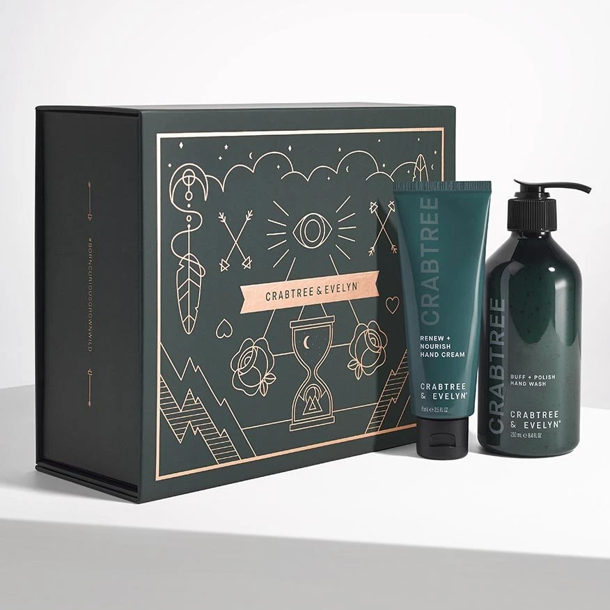 """<p>Grandma has long been a fan of Crabtree & Evelyn classics, and the timeless brand gave its Buff & Brighten Hand Care Set a truly chic, contemporary gift-ready presentation. It's what's inside that counts the most, however, which is why she'll truly appreciate the kit's Buff + Polish Hand Wash, which simultaneously cleanses and physically exfoliates, and Renew + Nourish Hand Cream, which relies on a blend of <a href=""""https://www.allure.com/gallery/what-you-didnt-know-about-lactic-salicylic-citric-glycolic-acid-creams?mbid=synd_yahoo_rss"""" rel=""""nofollow noopener"""" target=""""_blank"""" data-ylk=""""slk:alpha hydroxy acids"""" class=""""link rapid-noclick-resp"""">alpha hydroxy acids</a> (AHAs) and shea butter to further brighten and soften.</p> <p><strong>$48</strong> (<a href=""""https://www.crabtree-evelyn.com/products/crabtree-buff-brighten-hand-care-set"""" rel=""""nofollow noopener"""" target=""""_blank"""" data-ylk=""""slk:Shop Now"""" class=""""link rapid-noclick-resp"""">Shop Now</a>)</p>"""